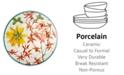 Zrike Dinnerware, Lulu Petals Dinner Plate