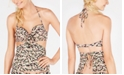 SUNDAZED Valorie Printed Ruffled Cutout Underwire Tankini Top, Created for Macy's
