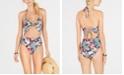 SUNDAZED Printed Willa Twist One-Piece Swimsuit