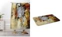 Deny Designs Iveta Abolina Gray Yellow Feathers Bath Mat