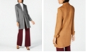 INC International Concepts I.N.C. Faux Suede Cocoon Coat, Created for Macy's