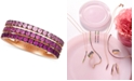 Le Vian Strawberry Layer Cake Pink Sapphire Ombré Three Row Ring (1 ct. t.w.) in 14k Rose Gold