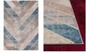 "Libby Langdon Winston Herringbone 5820 Tan/Teal 5'3"" x 7'7"" Area Rug"