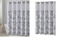 Hookless Floral Leaves 3-in-1 Shower Curtain