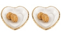 Badash Crystal Gold Edge Heart Plate 7.5""