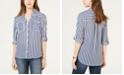 BCX Juniors' Striped Button-Up Shirt