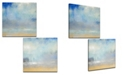 Ready2HangArt 'Coastal Pouring' 2 Piece  Canvas Wall Art Set, 20x20""