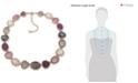 "Anne Klein Gold-Tone Multi-Stone Collar Necklace, 16"" + 3"" extender"