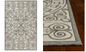 "Kas Harbor Irongate 4246 Ivory/Grey 7'6"" x 9'6"" Indoor/Outdoor Area Rug"