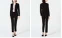 Bar III Open-Front Jacket, Printed Blouse & Straight-Leg Pants, Created for Macy's