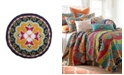 Levtex Home Amelie Round Embroidered Pillow