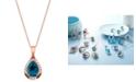 "Le Vian Ocean Blue Topaz (2-5/8 ct.t.w.) & Diamond (1/3 ct. t.w.) 20"" Pendant Necklace in 14k Rose Gold"