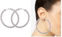 GUESS Crystal Pavé Large Hoop Earrings