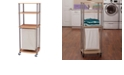 Household Essentials  Laundry Hamper Storage Cart