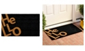 "Home & More Angle Hello 17"" x 29"" Coir/Vinyl Doormat"