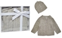 3 Stories Trading Baby Cable Knit Baby Cardigan with Beanie