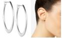 """Anne Klein Silver-Tone 3/4""""Oval Hoop Earrings"""