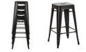 "Office Star Bristow 30"" Antique Metal Barstool, 4-pack"