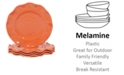 Certified International Perlette Coral Melamine 4-Pc. Dinner Plate Set