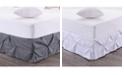 Sweet Home Collection Hudson Pintuck Ruffled King Bedskirt