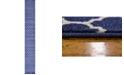 "Bridgeport Home Arbor Arb1 Dark Blue 2' 7"" x 19' 8"" Runner Area Rug"