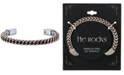 He Rocks Chain Design Cuff In Copper Two-Tone Stainless Steel