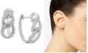 Macy's Diamond Interlocking Link Hoop Earrings (1/2 ct. t.w.) in Sterling Silver