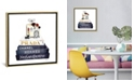 """iCanvas Stack of Fashion Books with Makeup Ii by Amanda Greenwood Gallery-Wrapped Canvas Print - 26"""" x 26"""" x 0.75"""""""