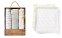 Jesse & Lulu 3 Stories Trading Jesse Lulu Infant 3 Pack Muslin Swaddle Blankets, Galaxy