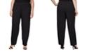 Alex Evenings Plus Size Slim-Leg Crepe Pants