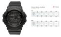 G-Shock Watch, Women's Digital Black Resin Strap 42x46mm BGD140-1A