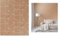"Advantage 20.5"" x 369"" in Rose Geometric Wallpaper"