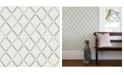 "A-Street Prints 20.5"" x 396"" AllotropeLinen Geometric Wallpaper"