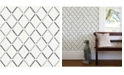 "A-Street Prints 20.5"" x 396"" Allotrope Linen Geometric Wallpaper"
