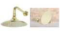 Kingston Brass Victorian 8-Inch OD Brass Shower Head with 12-Inch Shower Arm in Polished Brass