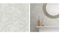 "Advantage 20.5"" x 369"" Los Cabos Marble Geometric Wallpaper"