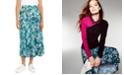 NY Collection Petite Printed Diagonal-Tier Skirt