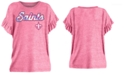5th & Ocean Big Girls New Orleans Saints Ruffle Foil T-Shirt