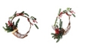 """Northlight 14"""" Lightly Frosted Cornucopia Artificial Christmas Wreath with Berries and Pine Cones - Unlit"""