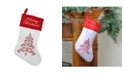 """Northlight 15.5"""" Red and White """"MERRY CHRISTMAS"""" Tree Stocking with Red Cuff"""