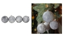 """Northlight 4ct Pewter Silver and White Antique Style Glass Ball Christmas Ornaments 4"""" 100mm"""