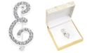 Charter Club Silver-Tone Pavé Initial Pin, Created for Macy's