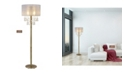 """Artiva USA Charlotte 61"""" 2-Light LED Floor Lamp Bubble Balls with Dimmer Swtich"""