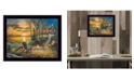 "Trendy Decor 4U Fireside By Jim Hansen, Printed Wall Art, Ready to hang, Black Frame, 14"" x 11"""
