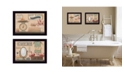 """Trendy Decor 4U Country Bath III Collection By Pam Britton, Printed Wall Art, Ready to hang, Black Frame, 18"""" x 14"""""""