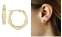 Macy's Bamboo Hoop Earrings Set in 14k Gold