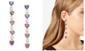 INC International Concepts INC Gold-Tone Crystal Heart Linear Drop Earrings, Created for Macy's
