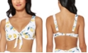 Jessica Simpson Nice Lemons Printed Underwire Tie-Front Bikini Top, Available in D-Cup