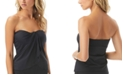 Vince Camuto Strapless Draped Tankini Top