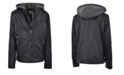 American Culture Little Boys Zip Front Updated Moto with Quilted Design Sleeve Details, Zip Out Fleece Bib and Hood